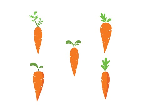 carrot logo icon vector illustration design template Ilustrace