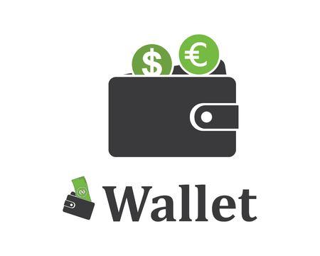 wallet logo icon vector template