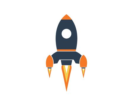 Rocket ilustration logo vector icon template