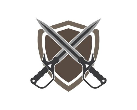 sword logo icon vector illustration design template