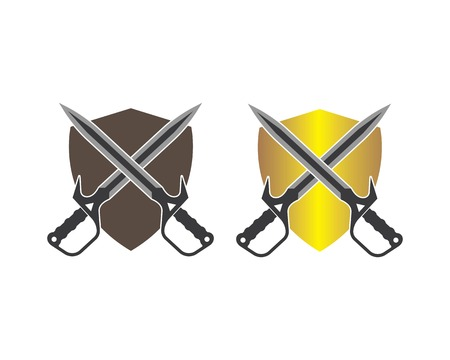 sword logo icon vector illustration design template Standard-Bild - 122459389