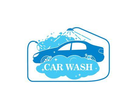 carwash icon logo vector illustration template