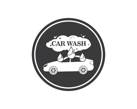carwash icon logo vector illustration template