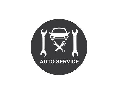 car service logo icon vector illustration template