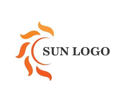 sun ilustration logo vector icon template Illustration
