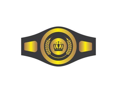 boxing belt champion logo icon vector template