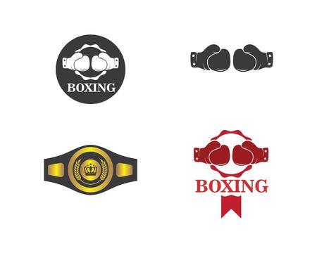 modèle d'illustration d'icône de vecteur de logo de boxe