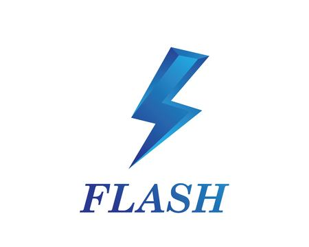 flash power thunder illustration vector template