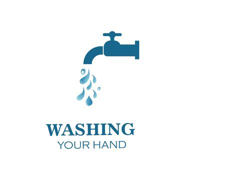 faucet logo icon illustration template design Illustration