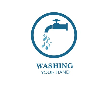 faucet logo icon illustration template design 写真素材 - 123479153
