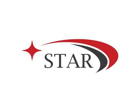 Diseño de ilustración de icono de vector de plantilla de logotipo de estrella Logos