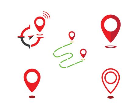 Location point Logo vector illustration template