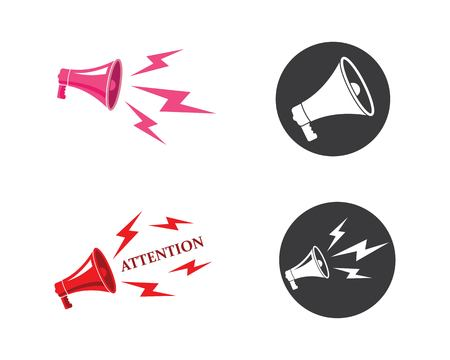 speaker,megaphone logo icon vector design template