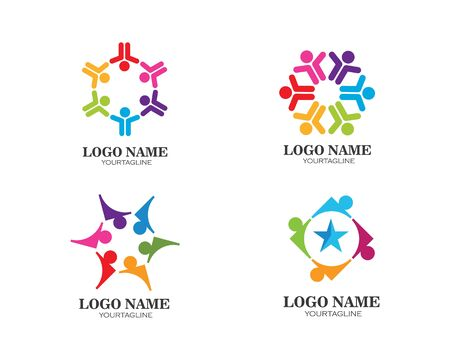 Community, network and social icon design vector template