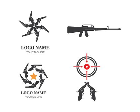 gun target icon vector illustration Illustration
