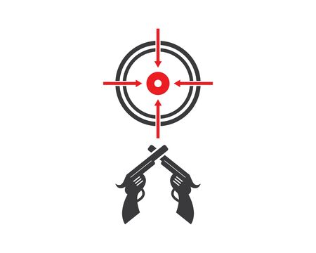 gun target icon vector illustration Çizim