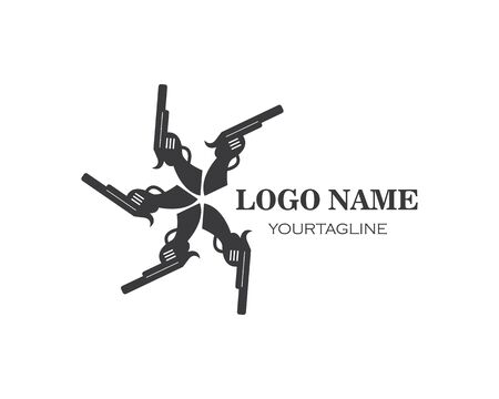 gun logo icon vector illustration design template