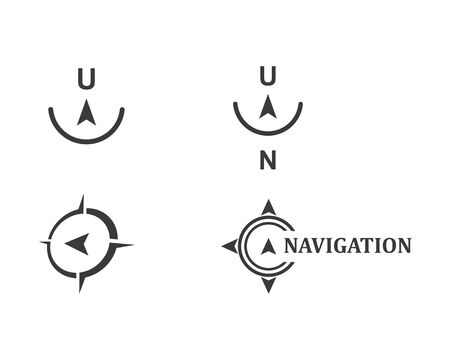 compass logo vector tempate ilustration design