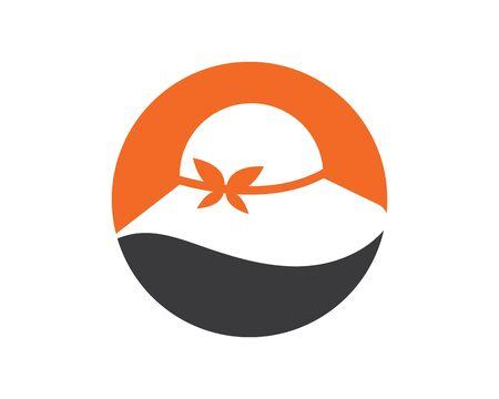 woman hat icon logo vector illustration design template Illustration