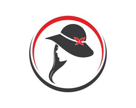 beauty woman with hat  vector illustration template design
