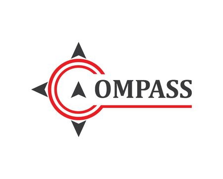 compass logo vector tempate ilustration design