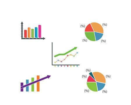 graph diagram information illustration vector design template