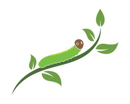 caterpillar logo icon vector illustration design template