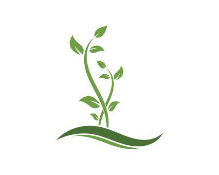 plant logo icon vector illustration design template 일러스트