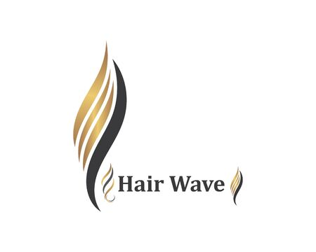 hair wave icon vector illustratin design symbol of hairstyle and salon template Stock Illustratie