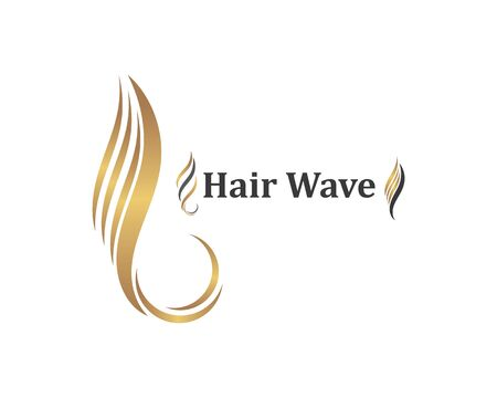 hair wave icon vector illustratin design symbol of hairstyle and salon template Banque d'images - 124822151