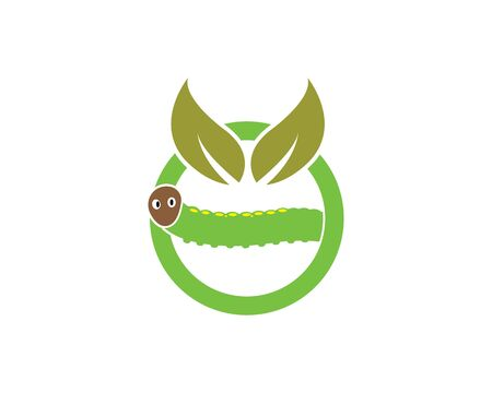 caterpillar logo icon vector illustration design template
