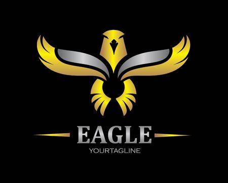 Icono de vector de plantilla de logotipo de halcón águila pájaro