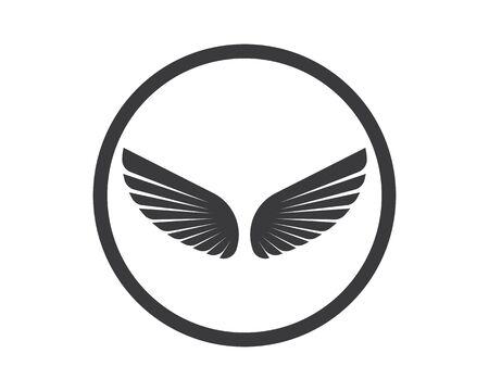 wing logo symbol icon vector illustration template Logos