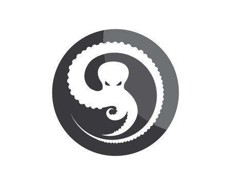 octopus icon logo vector illustration design template Logo