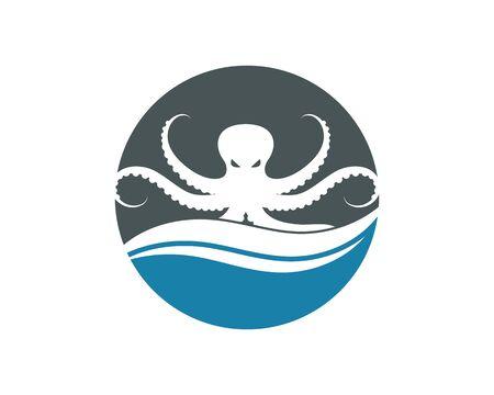 Tintenfisch-Symbol-Logo-Vektor-Illustration-Design-Vorlage