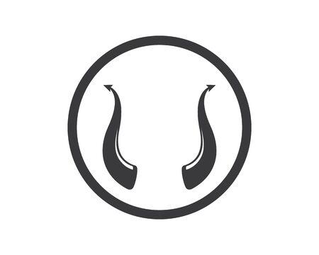 devil horn logo icon vector illustration design template Иллюстрация