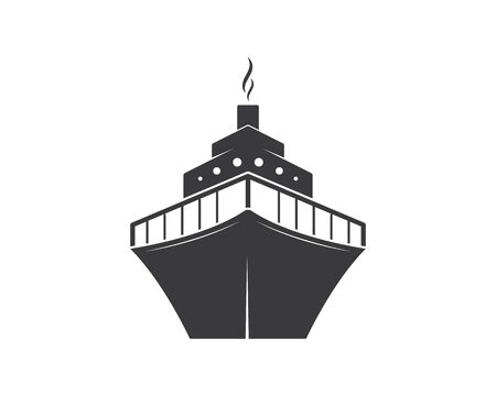 cruise ship Template vector icon illustration design