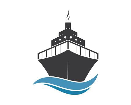 cruise ship Template vector icon illustration design