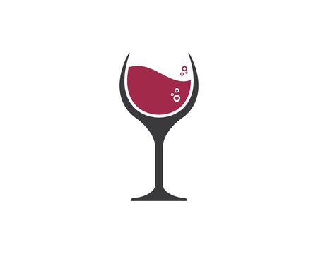 wine logo icon vector illustration design template