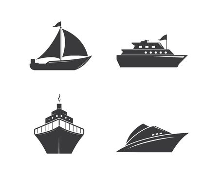 cruise ship Logo Template vector icon illustration design 矢量图像
