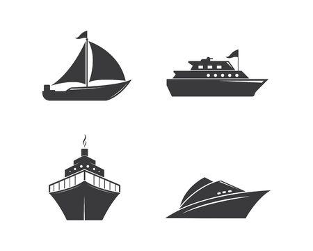 cruise ship Logo Template vector icon illustration design Illustration