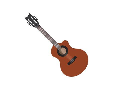 guitar logo icon vector illustration design template Vectores