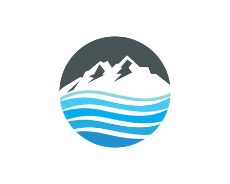 water fresh from mountain logo icon for bottled water business