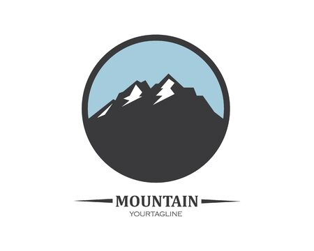High Mountain icon Logo vector illustration design Template