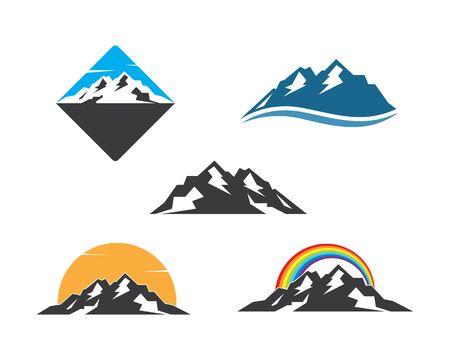 High Mountain icon Logo vector illustration design Template