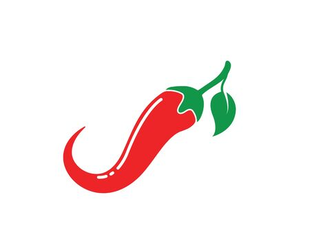 Chili logo icon vector illustration design template Illustration