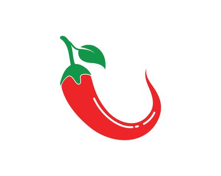 Chili logo icon vector illustration design template