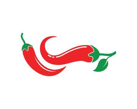 Chili logo icon vector illustration design template