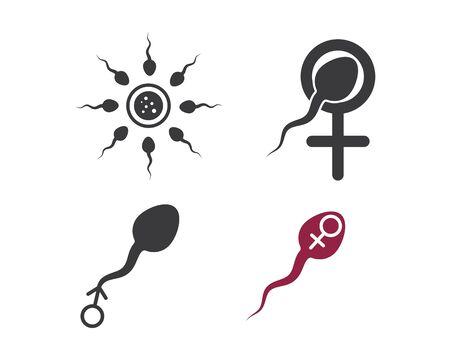 sperm icon logo vector illustration design template Illustration