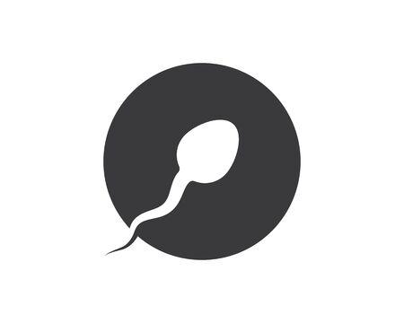 sperm icon logo vector illustration design template Ilustração